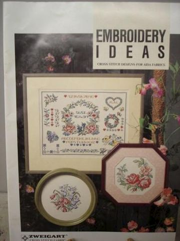 Embroidery,Ideas,Cross,Stitch,for,Aida,Fabrics,Zweigart,paper,cross stitch, zweigart, floral, flowers, border designs, samplers,kg krafts
