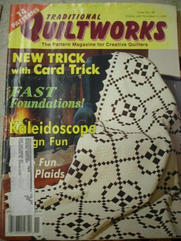 traditional,Quiltworks,for,the,creative,quilter,issue,no,40,1995,traditional quiltworks, quilters, patterns, quilts, kaleidoscope, card trick,kg krafts