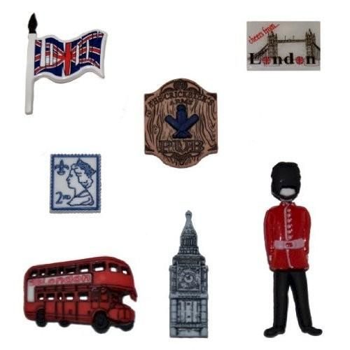 Dress It Up Destination England  Scrapbooking Embellishments - product images