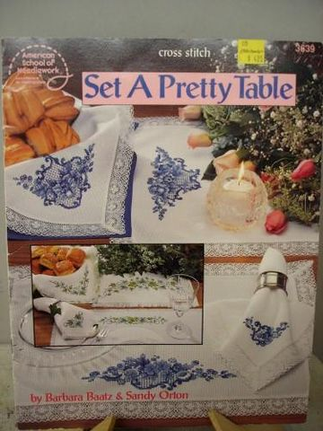 Set,a,Pretty,Table,A,Cross,Stitch,book,by,Barbara,Baatz,&,Sandy,Orton,cross stitch, patterns, set a pretty table,kg krafts