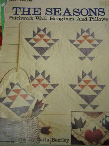 The,Seasons,Patchwork,Wall,Hanging,and,Pillow,patchwork, four seasons, quilting, carla bently,kg krafts,quilting patterns