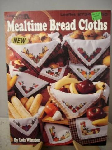 Mealtime,Bread,Cloths,by,Lois,Winston,Cross,Stitch,Booklet,cross stitch, bread cloths, fruits, vegetables, color charts,kg krafts