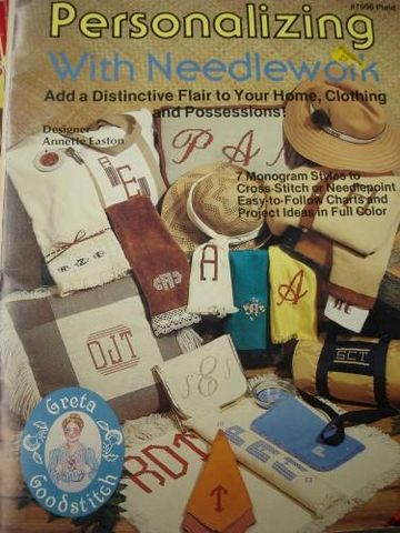 Personalizing,WIth,Needlework,By,Annette,Easton,needlework, cross stitch, monogram, kg krafts,plaid enterprises
