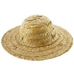6 inch Straw Hat 6 piece package - product images