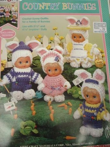 Country,Bunnies,Impkin,Dolls,Bunny,Patterns,country bunnies, impkins, crochet, kg krafts,crochet pattern,doll pattern