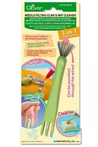 Needle,Felting,Claw,&,Mat,Cleaner,clover, felt, felt tools, claw mat cleaner, kg krafts, felting supplies
