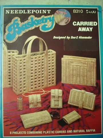 Basketry,Needlepoint,for,Plastic,Canvas,Carried,Away,plastic canvas, basket, carried away, soo-z alexander, tote, wallet, kg krafts, needlepoint