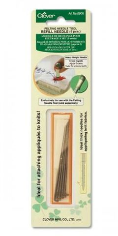 Felting,Needle,Refill,Heavy,Weight,clover, felt, felting tools, felting needles, felting supplies,wool,kg krafts