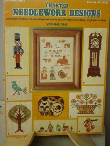 Charted,Needlework,Designs,Over,100,motifs,for,multi,media,use,charted cross stitch, needlepoint, knitting,kg krafts
