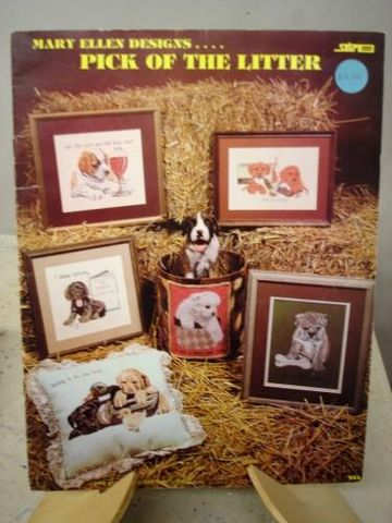 Pick,of,The,Litter,by,Mary,Ellen,Designs,puppies, dogs, cross stitch, mary ellen designs,