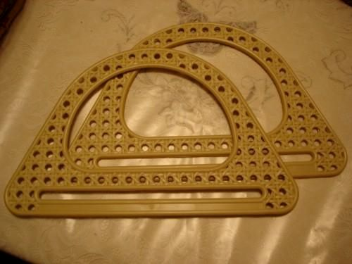 Rattan Style Polyester Cast Purse Handles - product image