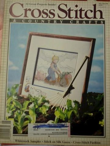 Cross,Stitch,and,Country,Crafts,Magazine,May/June,1990,cross stitich, country crafts, sampler, fashion, charts, needlework, kgkrafts