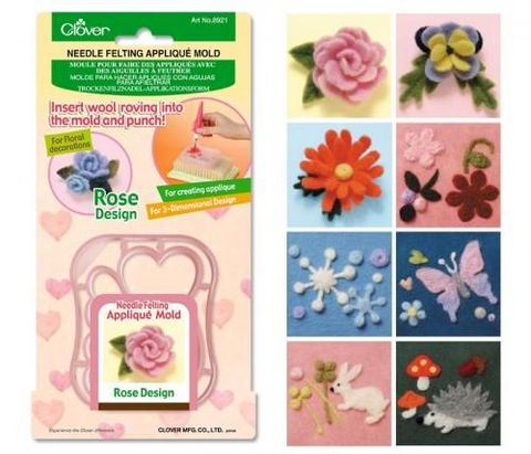 Needle,Felting,Applique,Molds,clover, felting, tools, templates, felting molds,kg krafts