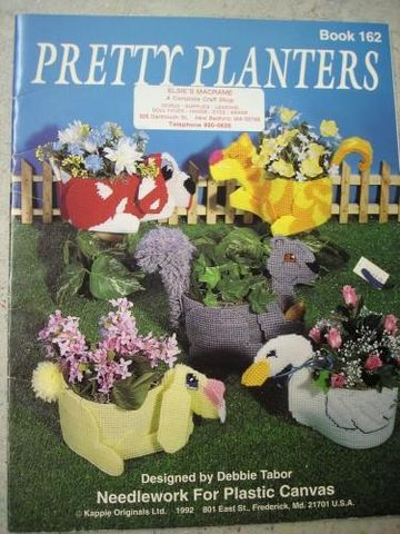 Pretty,Planters,in,Plastic,Canvas,Needlepoint,by,Debbie,Tabor,plastic canvas, pretty planters, debbie tabor, kappie orginals,kg krafts