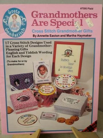 Grandmothers,are,Special,Counted,Cross,stitch,Grandmother,Gifts,grandmothers are special, counted cross stitch, yiddish ,kg krafts,needleworks