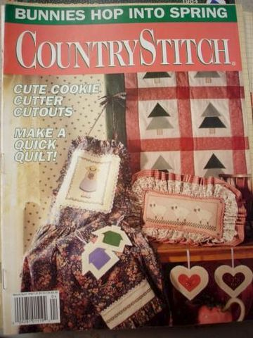 Country,Stitch,Magazine,March/April,1992,counted cross stitch, quilting, Country Stitch, mixed media