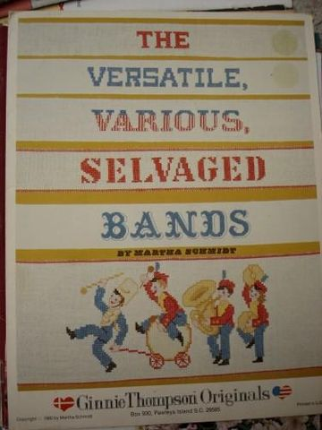 The,Versatile,Various,Selvaged,Bands,Ginnie,Thompson,Originals,ginnie thompson originals, the versatile various selvaged bands, cross stitich, charts, patterns
