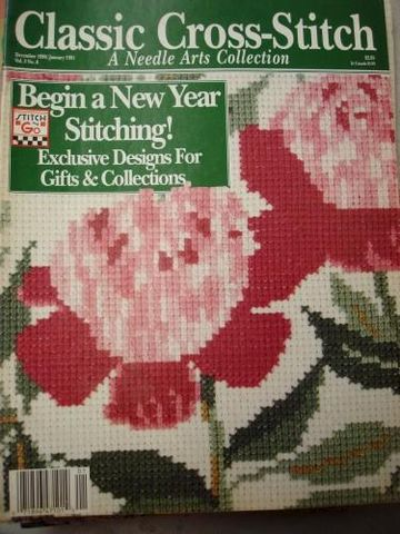 Classic,Cross,Stitch,A,Needle,Arts,Collection,Dec,90/Jan,91,magazine, cross stitch, classic cross stitch, needle arts,kg krafts,needle arts