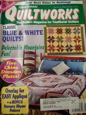 Issue,no,55,Traditional,Quiltworks,1998,the,pattern,Magazine,traditional quiltworks Magazine, 1998, no 55, patterns,kg krafts,quilting,patterns