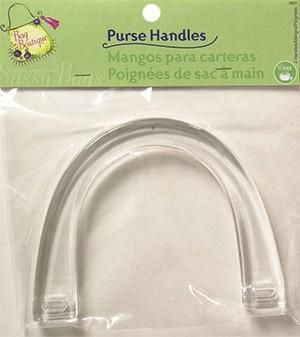 Clear,Purse,U,shaped,Handles,set,of,two,clear, acrylic, purse, totes, bags, pocketbook, u shaped,kg krafts