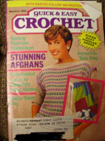 Quick,and,Easy,Crochet,May,June,1992,quick and easy crochet, instructions, shawls, borders, afghans, knit, crochet