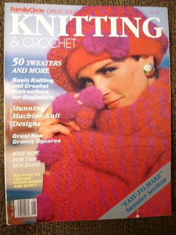 Family,Circle,Great,Ideas,Knitting,and,Crochet,vol,13,no,5,Family Circle Great Ideas, Knitting and Crochet, vol 13 no 5, magazine, knit, crochet, sweater, hat, beret, beginners