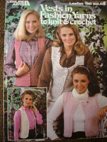 Vests,in,Fashion,Yarns,to,Knit,and,Crochet,Leisure,Arts,leisure arts, vests, fashion, knit, crochet, leaflet 196, kgkrafts