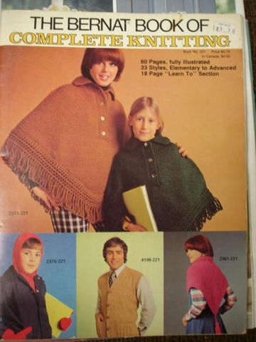 The,Bernat,Book,of,Complete,Knitting,33,pattens,to,choose,from,mens, womans, children, fashion, knit, crochet, ponchos, vests, shawls, hat, scarf, how to, sweaters,kg krafts