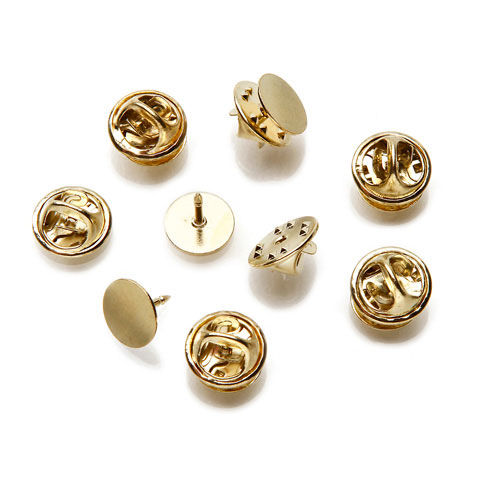 Tie Tacks with Clutch in Gold or Silver - 10mm - product image