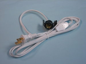 Cordset with Clipin Socket and On/off Switch - product images