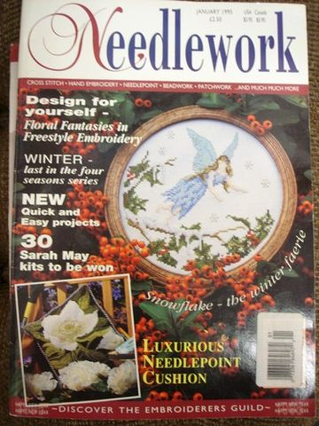 Needlework,Stitchery,Magazine,January,1995,Needlework , Magazine, January 1995,kg krafts,Cross stitch, needlework, needlepoint, beadwork ,