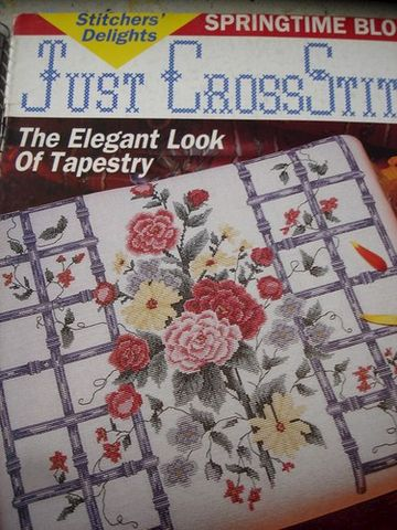Just,Cross,Stitch,Magazine,April,1991,Just Cross Stitch  Magazine April 1991 ,kg krafts,counted cross stitch,needlework, crafts,craft supplies
