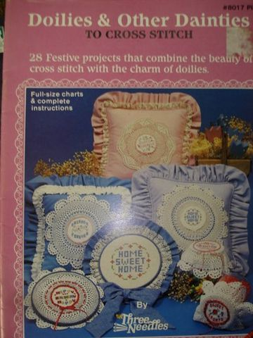 Doilies,and,other,Dainties,to,Cross,Stitch,kg krafts,cross stitch,doilies,projects,instructions,pillow,home decor,three needles, craft supplies,crafts,supplies,indie supplies