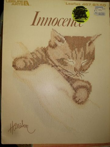 Innocence,Counted,Cross,Stitch,Pattern,by,Leisure,Arts,no.,467,Innocence Counted Cross Stitch Pattern by Leisure Arts no. 467  four adorable Kitten Counted cross stitch by Bob Harrison