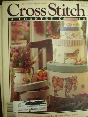 Better,Homes,and,Gardens,Cross,Stitch,Country,Crafts,Mar/Apr,1991,Better Homes and Gardens Cross Stitch and Country Crafts, Mar/Apr 1991,counted cross stitch,needlework, kg krafts,patterns, crafts,craft supplies
