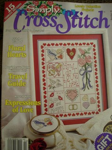Simply,Cross,Stitch,issue,number,45,Simply Cross Stitch , issue ,number 6,magazine,charts, patters, counted cross stitch,kg krafts, crafts,craft supplies