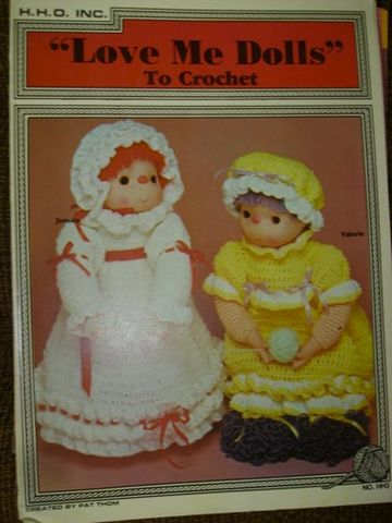 Love,Me,Dolls,to,Crochet,by,HHO,Inc.,No.,HH3,vintage,crochet, pat thom, love me dolls,kg krafts,yarn dolls, craft supplies,crafts,supplies,indie supplies