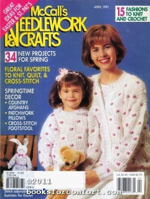 McCalls,Needlework,&,Crafts,April,1991,McCalls Needlework & Crafts april 1991,kg krafts,knit,crochet,craft, patterns