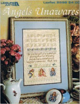 Angels,Unawares,Leisure,Arts,Leaflet,2598,by,Linda,Culp,Calhoun,Angels Unawares Leisure Arts Leaflet 2598, Linda Culp Calhoun,kg krafts,counted cross stitch