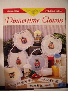 Dinnertime,Clowns,from,Just,Cross,Stitch,Dinnertime Clowns from Just Cross Stitch,cathy livingston,kg krafts,counted cross stitch