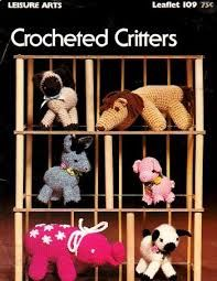 Crocheted,Critters,by,Leisure,Arts,#109,Crocheted Critters by Leisure Arts #109,kg krafts,crochet,needlework,patterns,animals