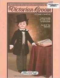 Victorian,Groom,Fashion,Classics,from,Fibre,Craft,Victorian Groom Fashion Classics from Fibre Craft,13 inch  bed doll,kg krafts,crochet patterns.bed doll