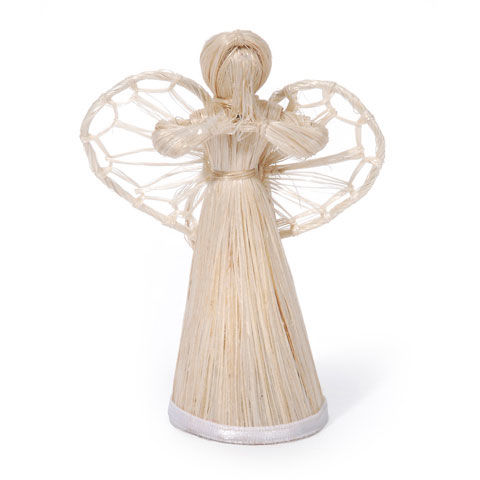 Natural 3-dimensional Abaca Angel    3 inches - product images