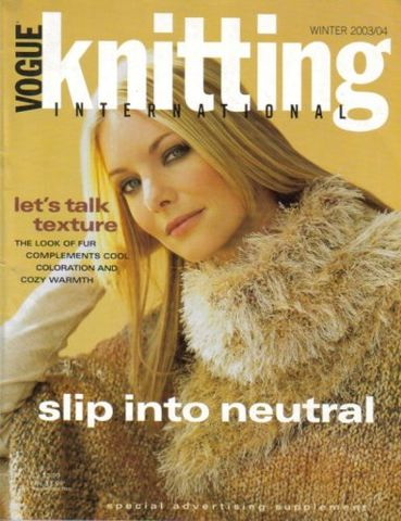 Vogue,Knitting,Winter,2003/2004,Vogue Knitting,Winter 2003/2004, Classic Vogue, sweaters, family knit, designers