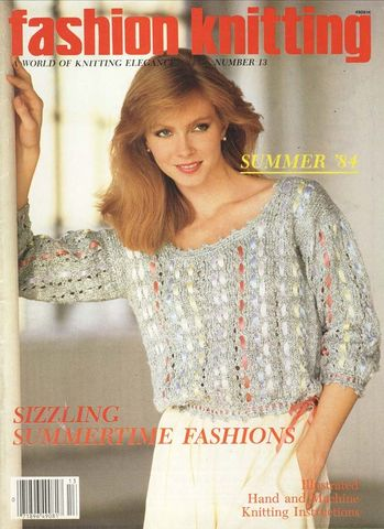 Fashion,Knitting,number,13,Summer,1984,Fashion Knitting number 13 Summer 1984,kg krafts,knitting,patterns,crochet