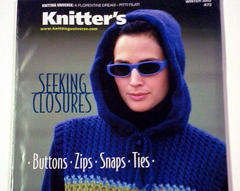 Knitter's,Magazine,Winter,2003,by,Knitting,Universe,Knitters Magazine,Winter 2003, Knitting Universe patterns, designs, trendy, colorful, sensational, magazine, knit, crochet, patterns, instructional