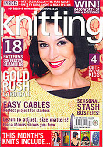 Knitting,Magazine,December,2008,Knitting Magazine  December 2008,knitting,kg krafts,crochet,england