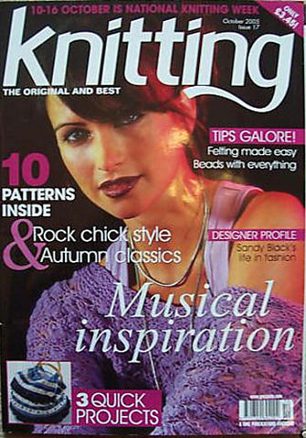 Knitting,Magazine,October,2005,Knitting Magazine October 2005,knitting,kg krafts,crochet,england