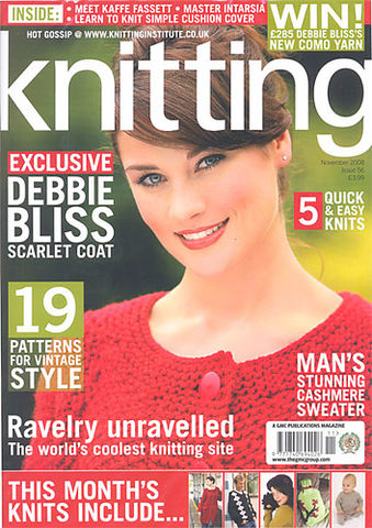 Knitting,Magazine,November,2008,no,56,Knitting Magazine November  2008 no 56,knitting,kg krafts,crochet,england