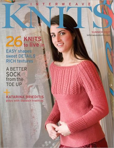 Interweave,Knits,Summer,2007,interweave knits, interweave,knits,magazine,Summer 2007,crochet,yarn,kg krafts